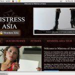 Account Free Mistressofasia.com